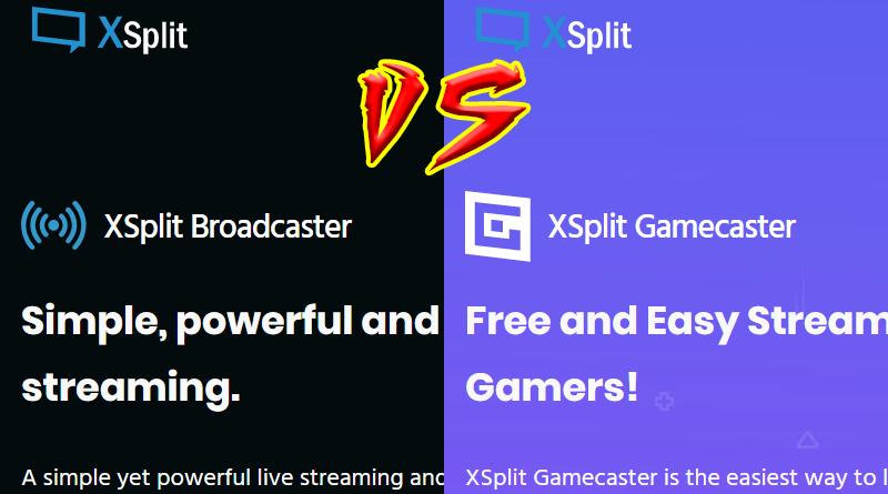Broadcaster vs Gamecaster