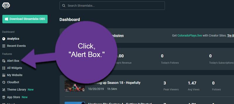Streamlabs Alert Box
