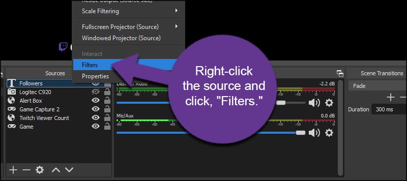 Add Source Filter