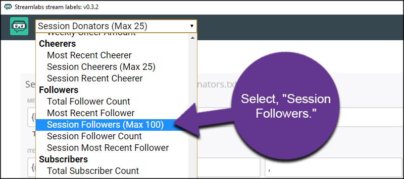 Choose Session Followers
