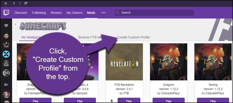 Create Custom Profile