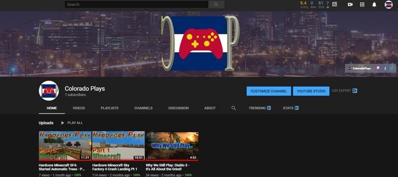 ColoradoPlays YouTube