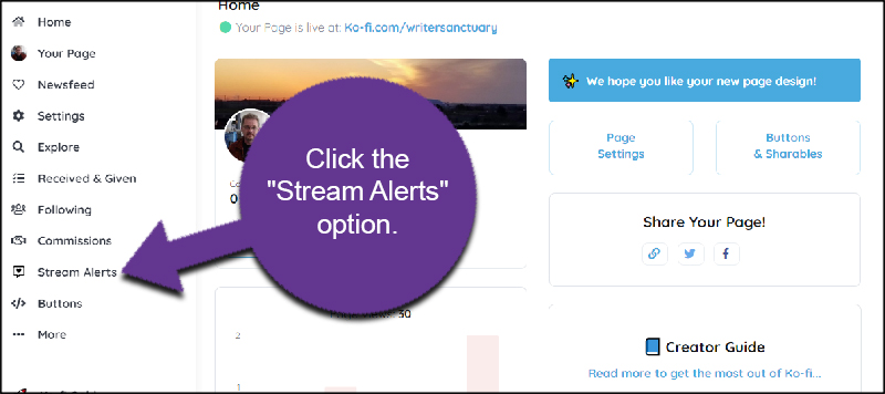 Stream Alerts Option