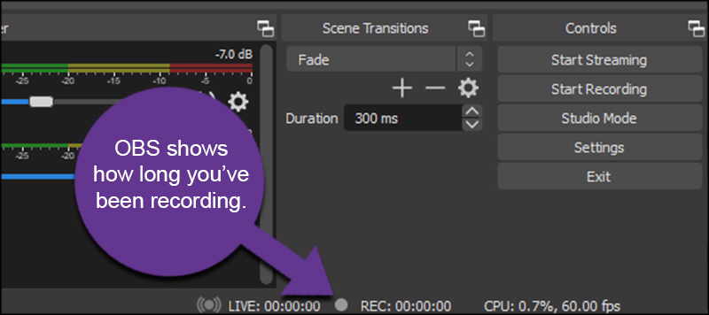 Recording Time in OBS
