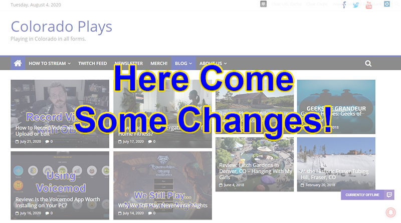Changing the Website