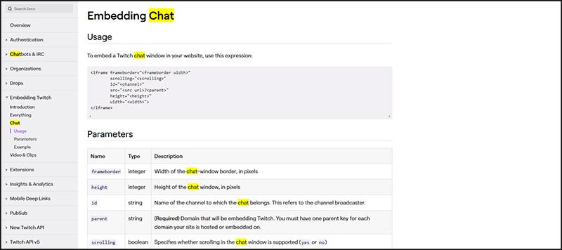 Embedding Chat