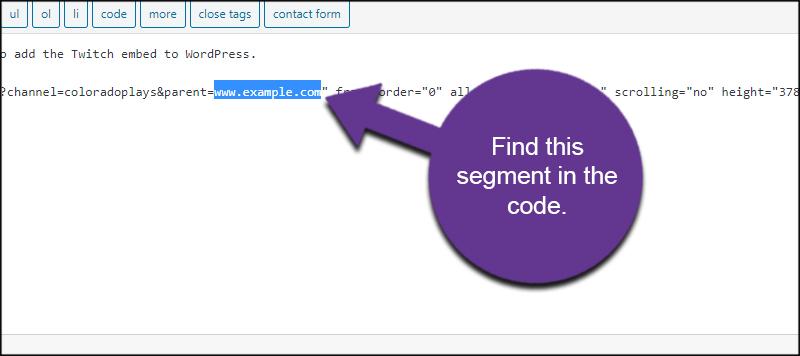 Find Example Segment