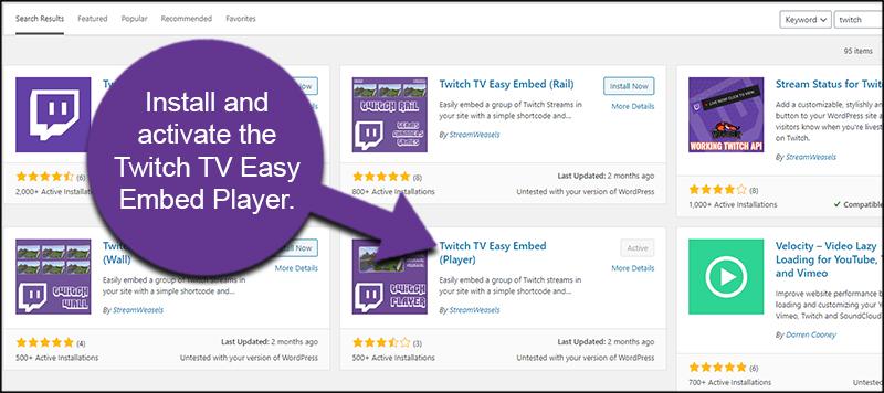 Twitch Embed Player Plugin