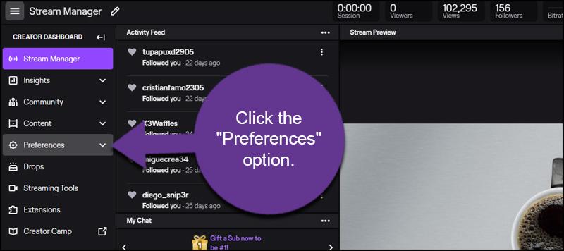 Twitch Preferences