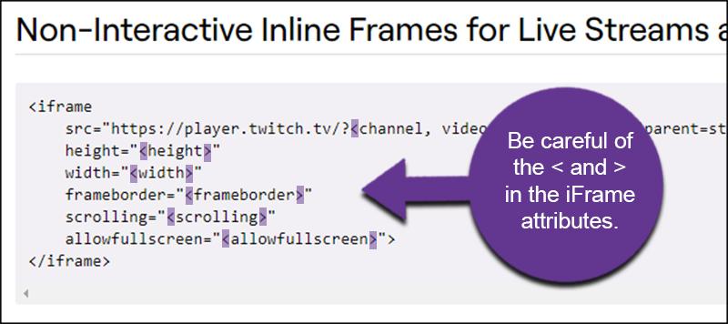 iFrame Attributes