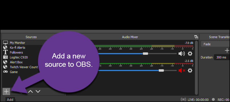 Add Source to OBS