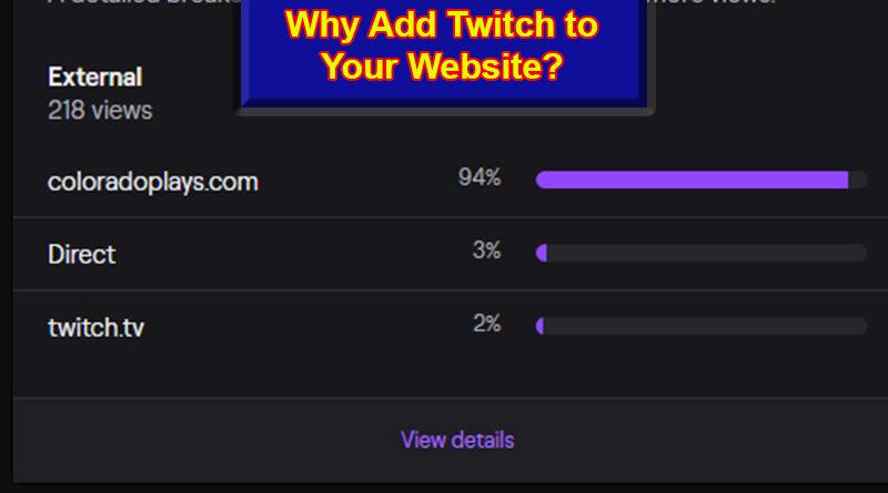 Add Twitch to a Website