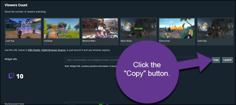 Copy Viewer URL