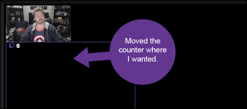 Counter is Moved