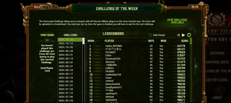 Weekly Challenges