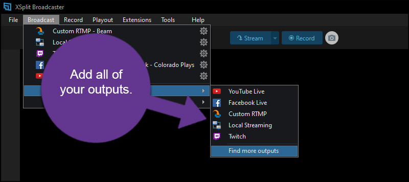 Add Video Outputs