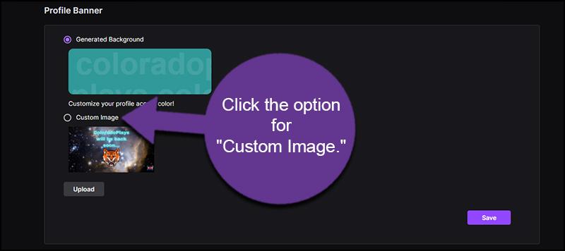 Choose Custom Image