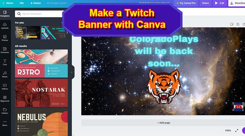 Make a Twitch Banner