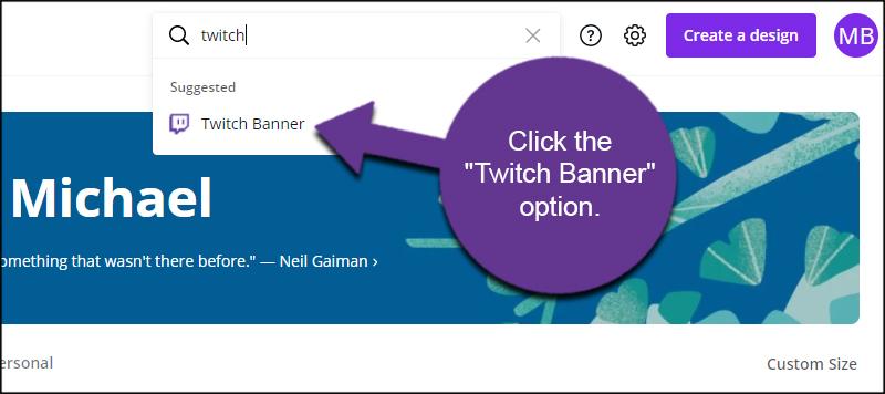 Twitch Banner Option