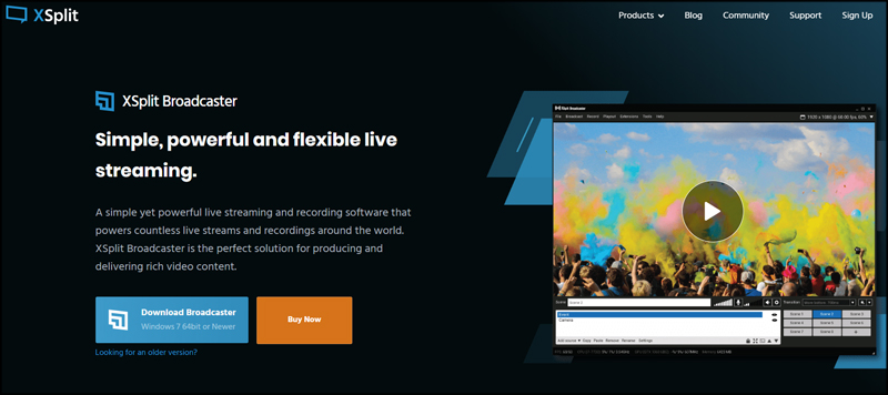 XSplit Broadcaster Multistream