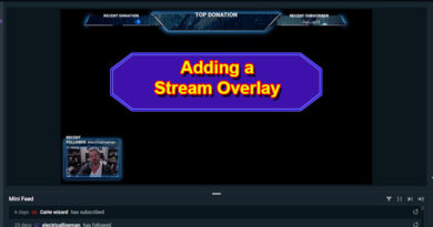 Adding a Stream Overlay