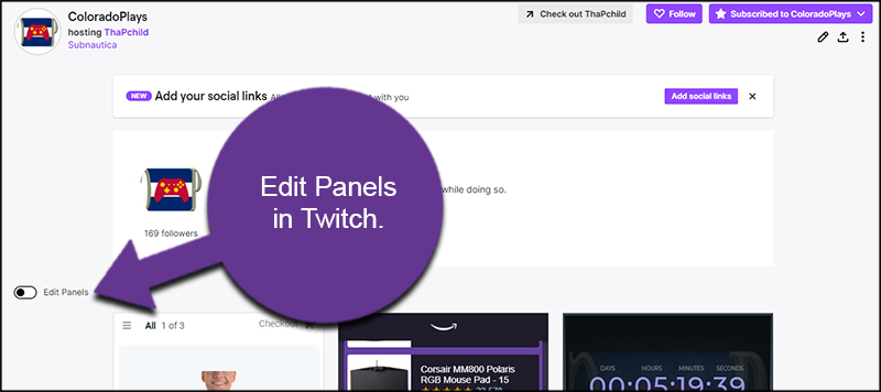 Edit Twitch Panels