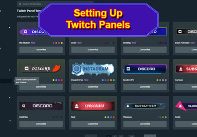 Streamlabs Prime Twitch Panels