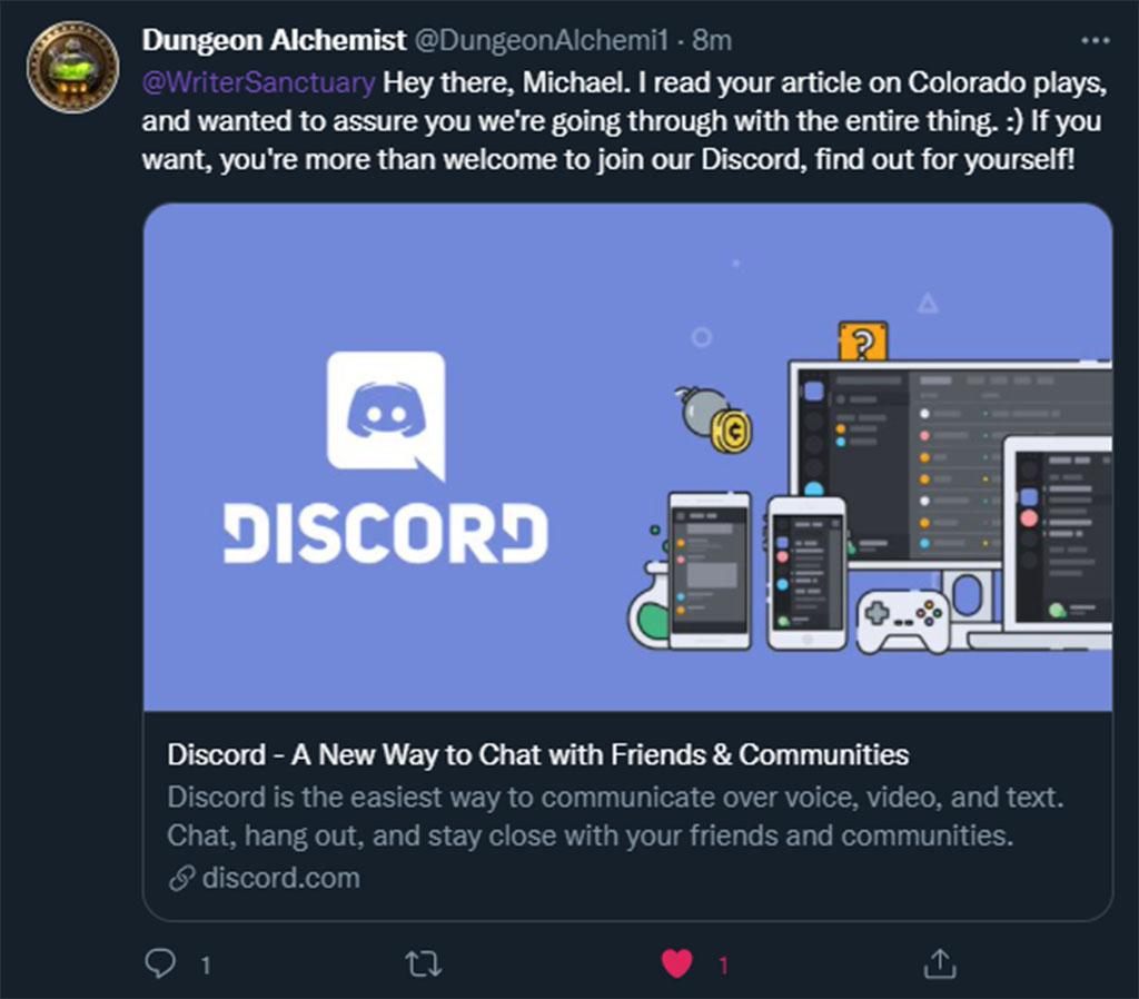 Dungeon Alchemist Tweet