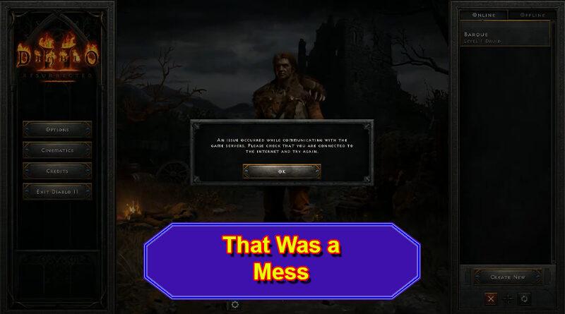 Diablo II Launch