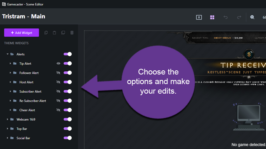 Edit Gamecaster Overlay