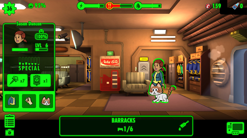 Fallout Shelter Cat