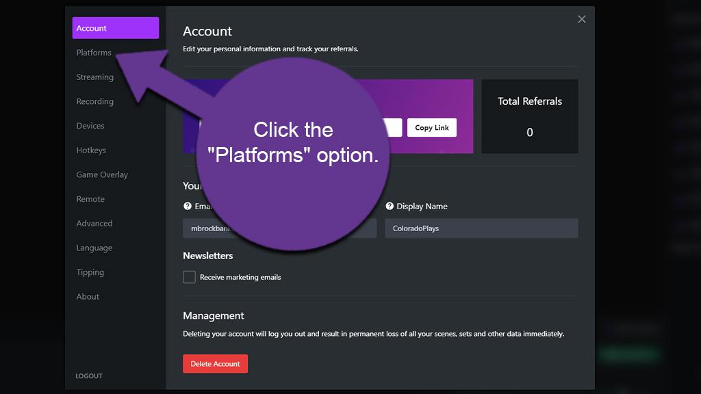 Platforms Option