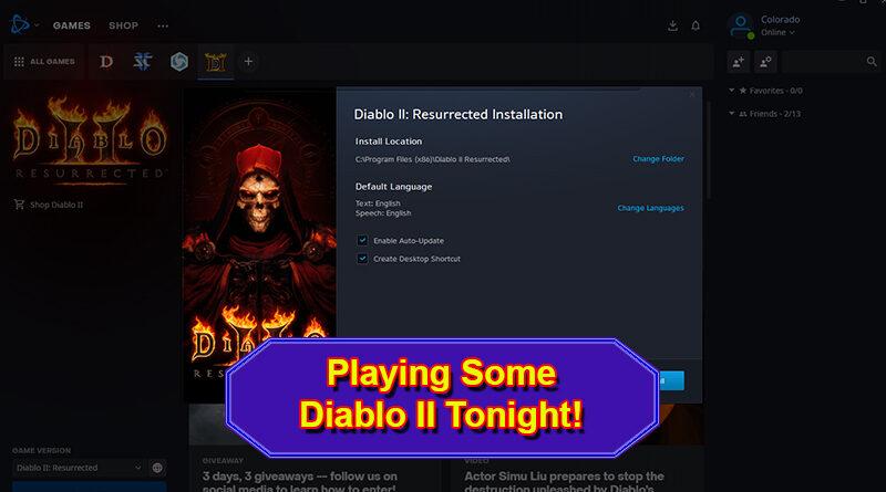 Playing Diablo II