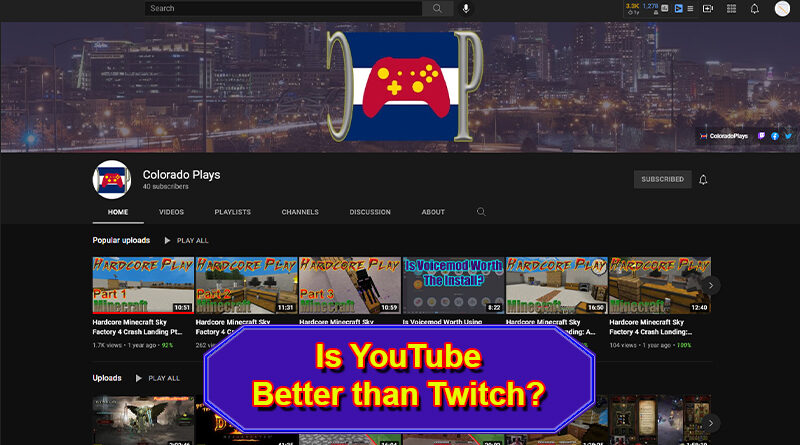Stream Games on YouTube